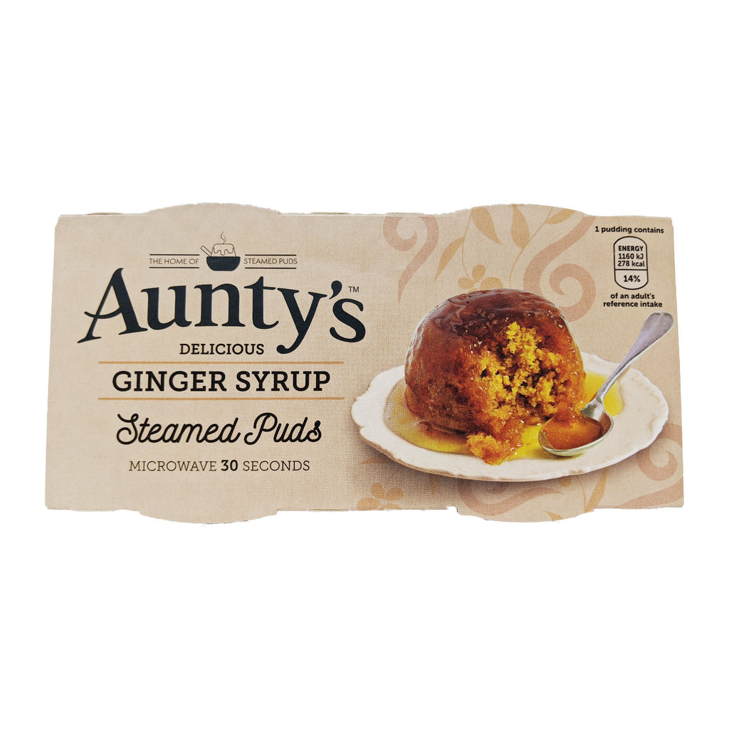 Aunty's Ginger Syrup Steamed Puddings (2 x 95g) - Blighty's British Store