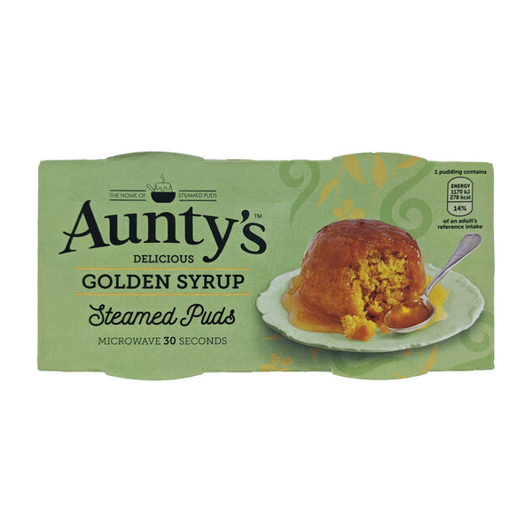 Aunty's Golden Syrup Steamed Puddings (2 x 95g) - Blighty's British Store