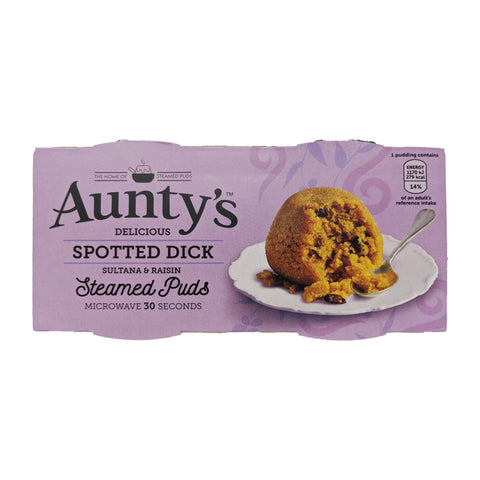 Aunty's Spotted Dick Steamed Puddings (2 x 95g) - Blighty's British Store
