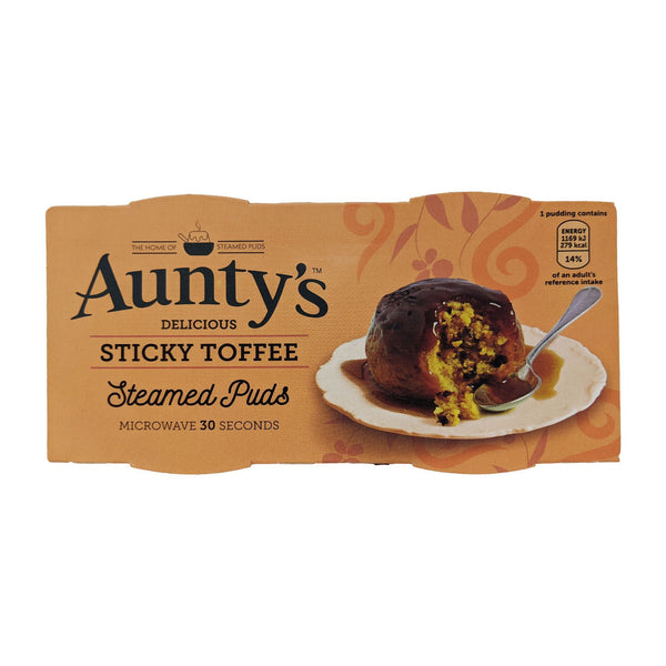 Aunty's Sticky Toffee Steamed Puddings (2 x 95g) - Blighty's British Store