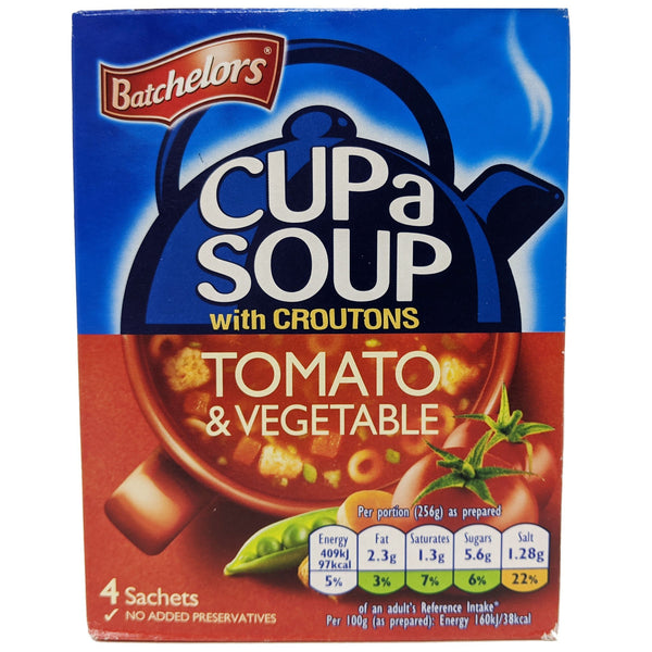 Batchelor's Cup a Soup Tomato & Vegetable 104g - Blighty's British Store