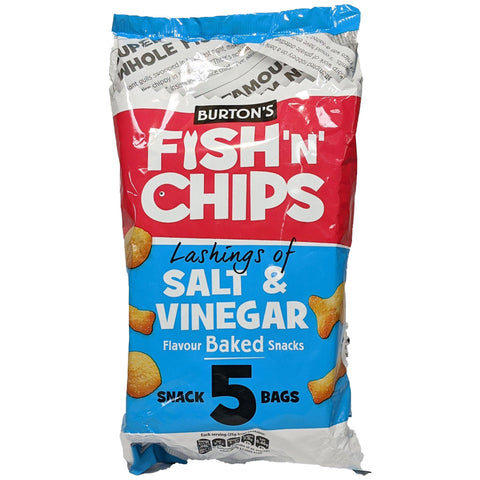 Burton's Fish 'n' Chips Salt & Vinegar 5 Pack (5 x 25g) - Blighty's British Store