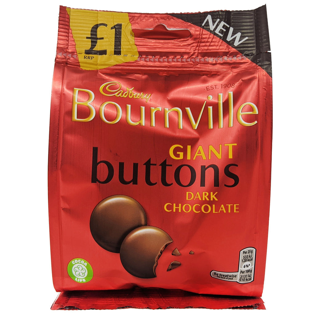 Cadbury Bournville Giant Buttons 95g - Blighty's British Store