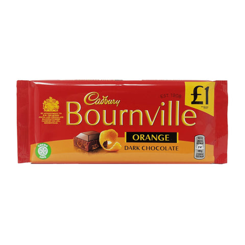 Cadbury Bournville Orange Dark Chocolate 100g - Blighty's British Store