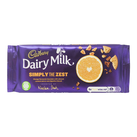 Cadbury Dairy Milk Simply The Zest 110g - Blighty's British Store