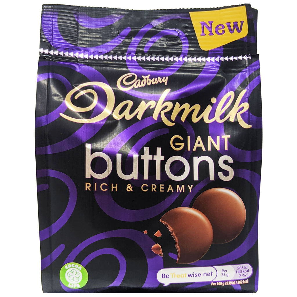 Cadbury Darkmilk Giant Buttons 90g - Blighty's British Store