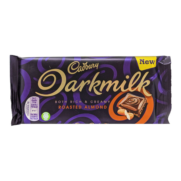 Cadbury Darkmilk Roasted Almond 85g - Blighty's British Store