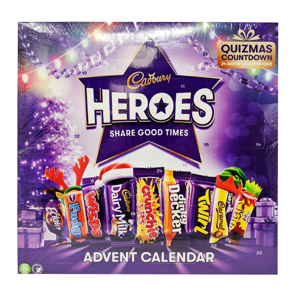 Cadbury Heroes Advent Calendar 230g - Blighty's British Store