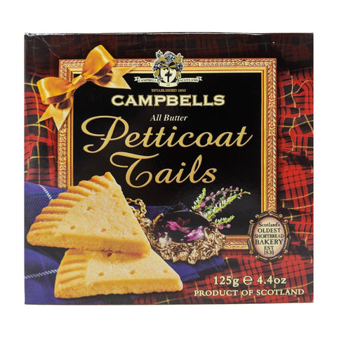 Campbells All Butter Shortbread Petticoat Tails 125g - Blighty's British Store