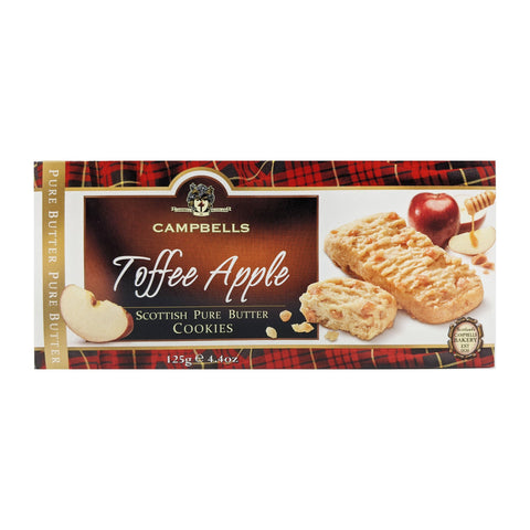 Campbells Toffee Apple Scottish Pure Butter Cookies 125g - Blighty's British Store