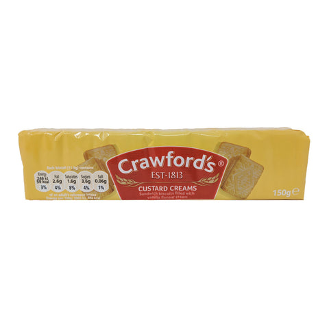 Crawford's Custard Creams 150g - Blighty's British Store