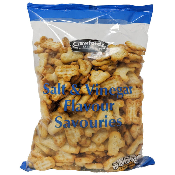 Crawford's Salt & Vinegar Flavour Savouries 250g - Blighty's British Store