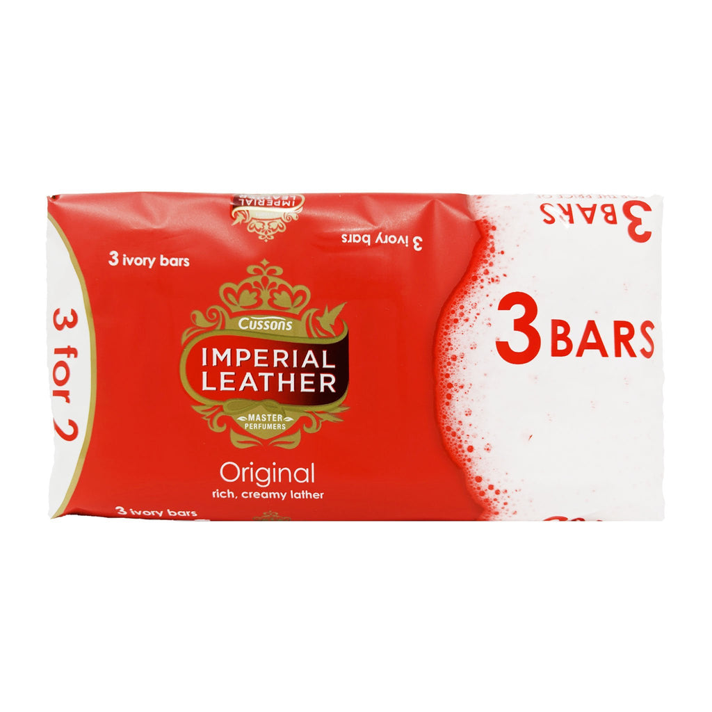 Cussons Imperial Leather Original Bar Soap 3 Pack - Blighty's British Store