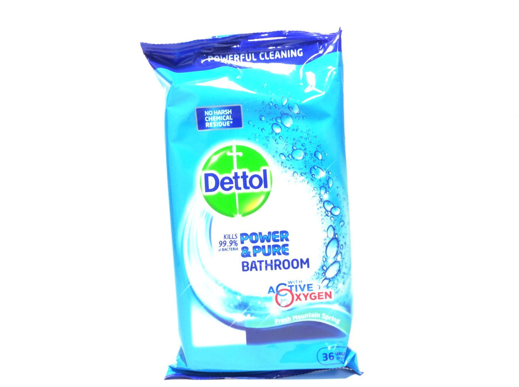 Dettol Power & Pure Bathroom Disinfectant Wipes - Blighty's British Store