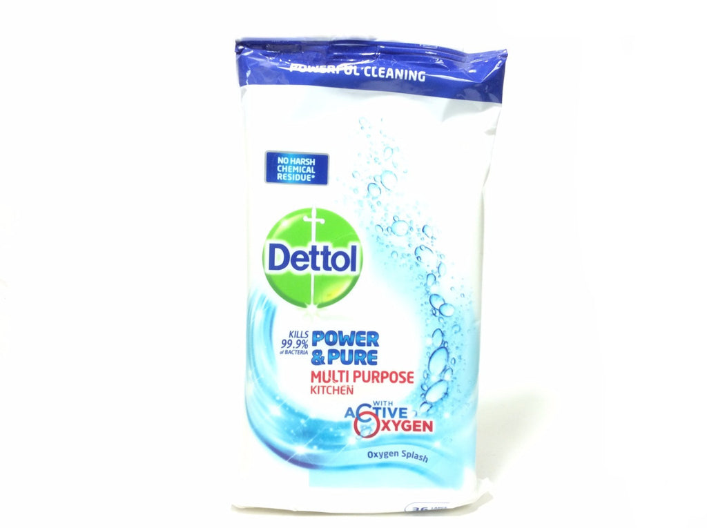 Dettol Power & Pure Multi Purpose Kitchen Disinfectant Wipes - Blighty's British Store