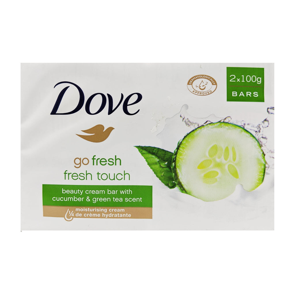 Dove Fresh Touch Beauty Cream Bar Soap 2 Pack - Blighty's British Store