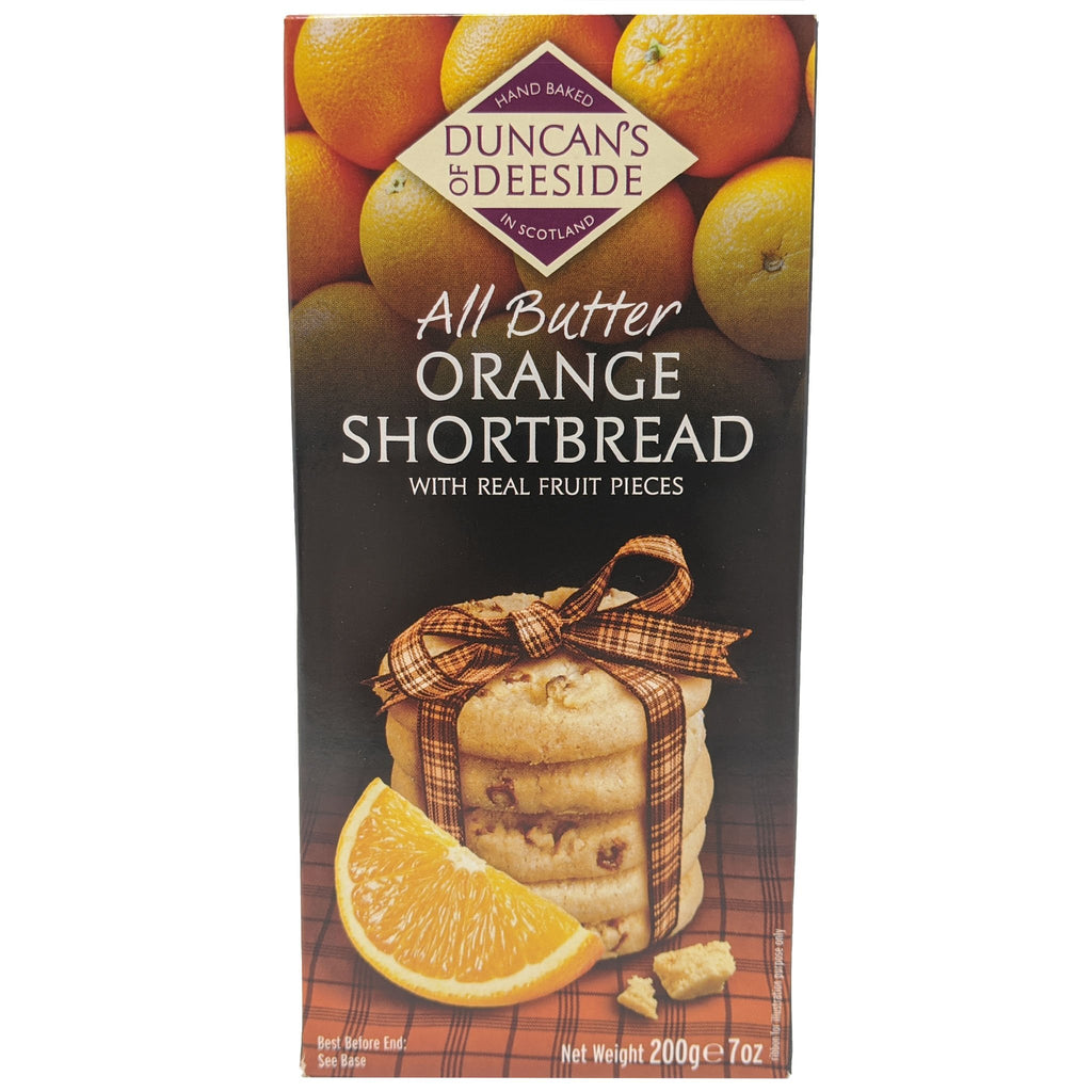 Duncan's Of Deeside All Butter Orange Shortbread 200g - Blighty's British Store