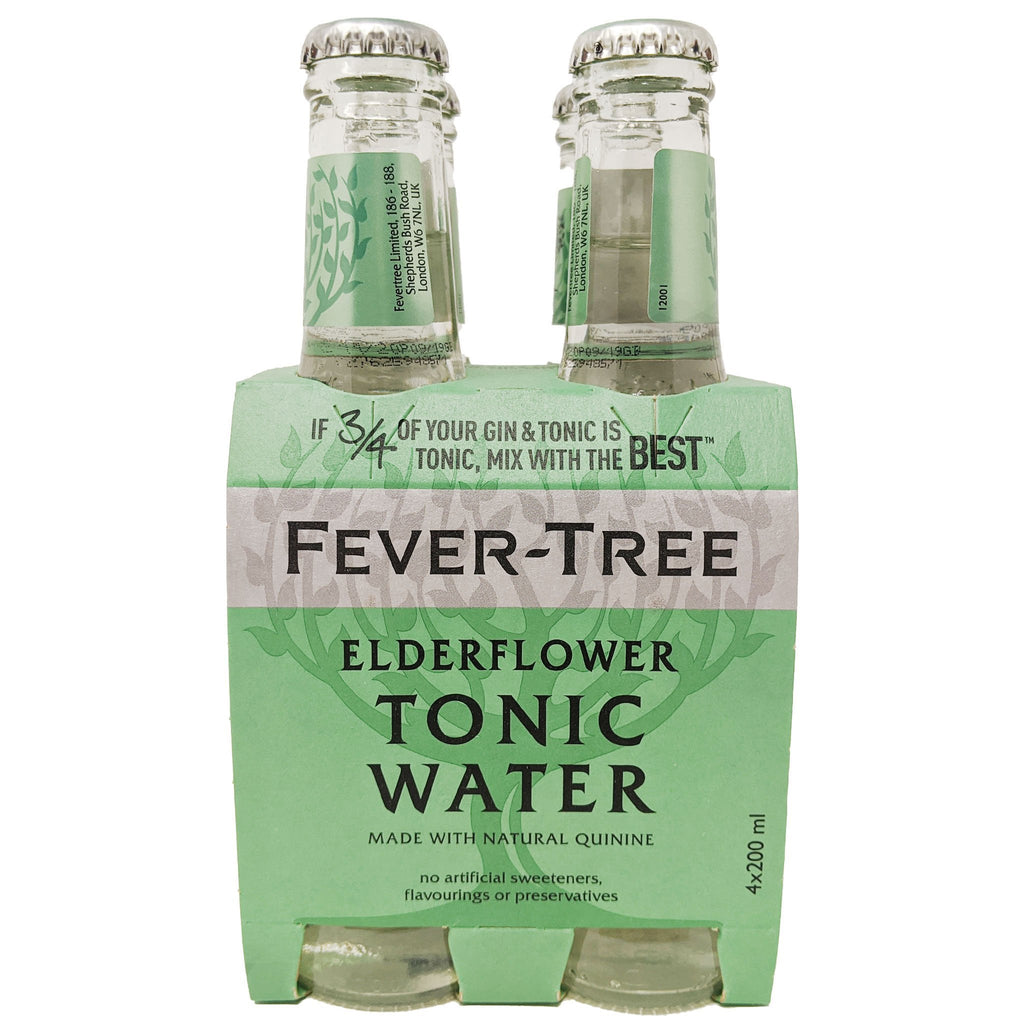 Fever-Tree Elderflower Tonic Water (4 x 200ml) - Blighty's British Store
