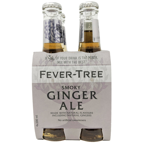 Fever-Tree Smoky Ginger Ale (4 x 200ml) - Blighty's British Store