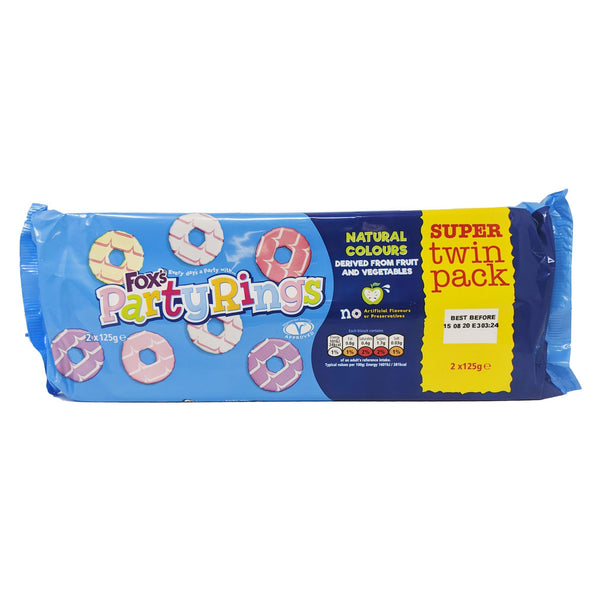 Fox's Party Rings Twin Pack (2 x 125g) - Blighty's British Store