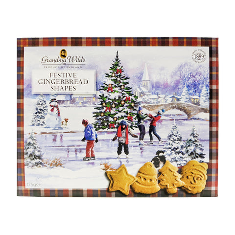 Grandma Wild's Festive Gingerbread Shapes 175g - Blighty's British Store