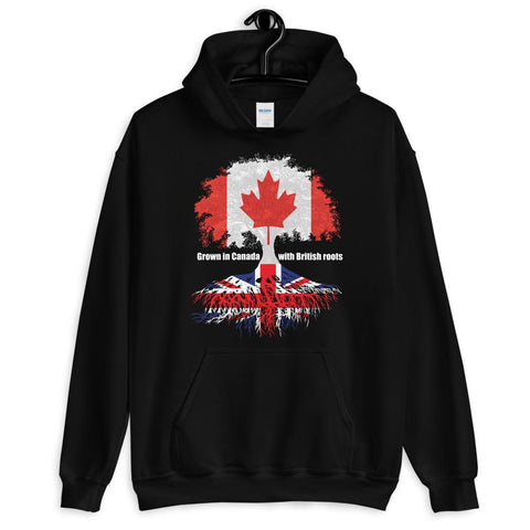 Grown in Canada With British Roots Unisex Hoodie - Blighty's British Store