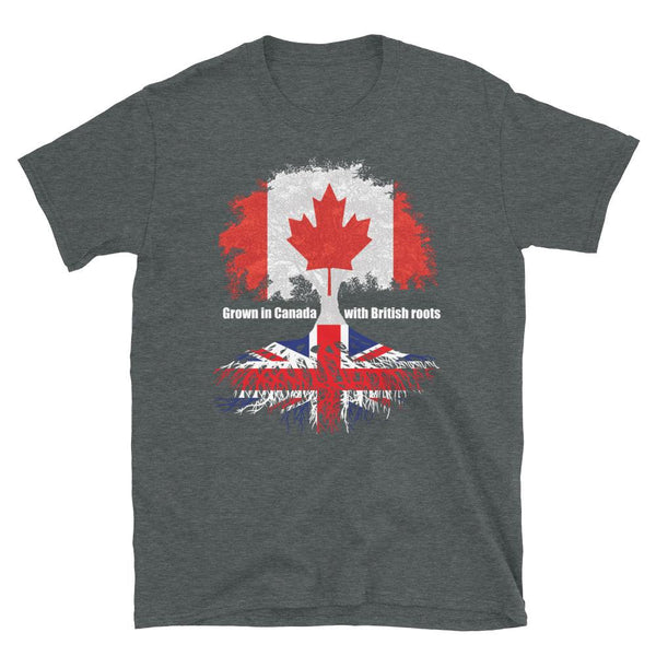 Grown in Canada With British Roots Unisex T-Shirt - Blighty's British Store