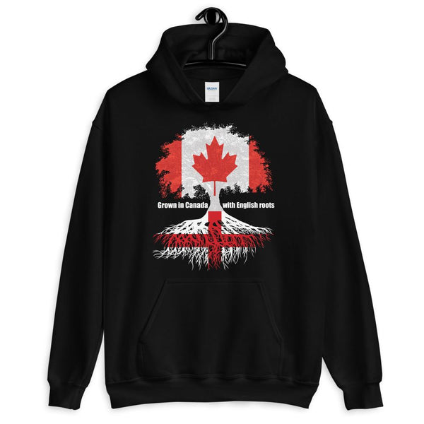 Grown in Canada With English Roots Unisex Hoodie - Blighty's British Store