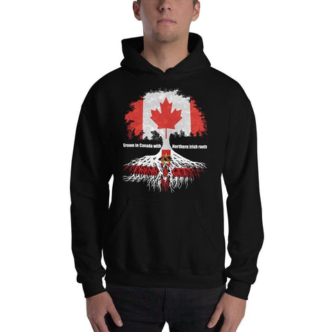 Grown in Canada With Northern Irish Roots Unisex Hoodie - Blighty's British Store