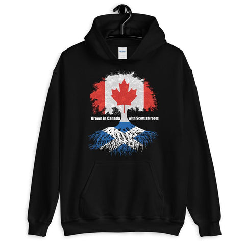 Grown in Canada With Scottish Roots Unisex Hoodie - Blighty's British Store