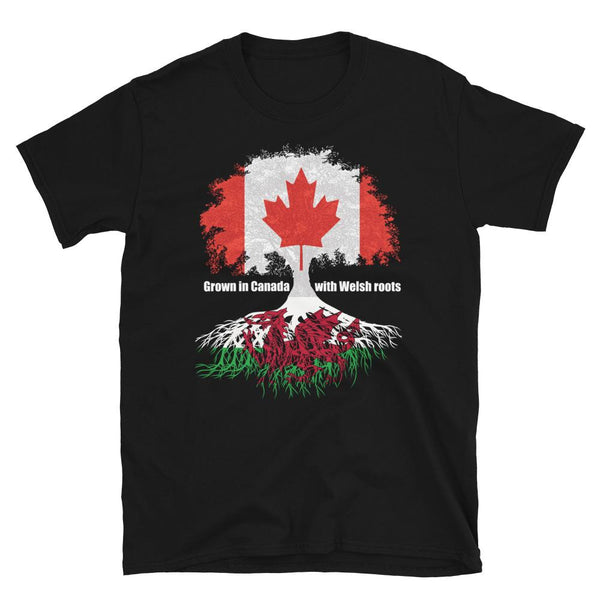 Grown in Canada With Welsh Roots Unisex T-Shirt - Blighty's British Store