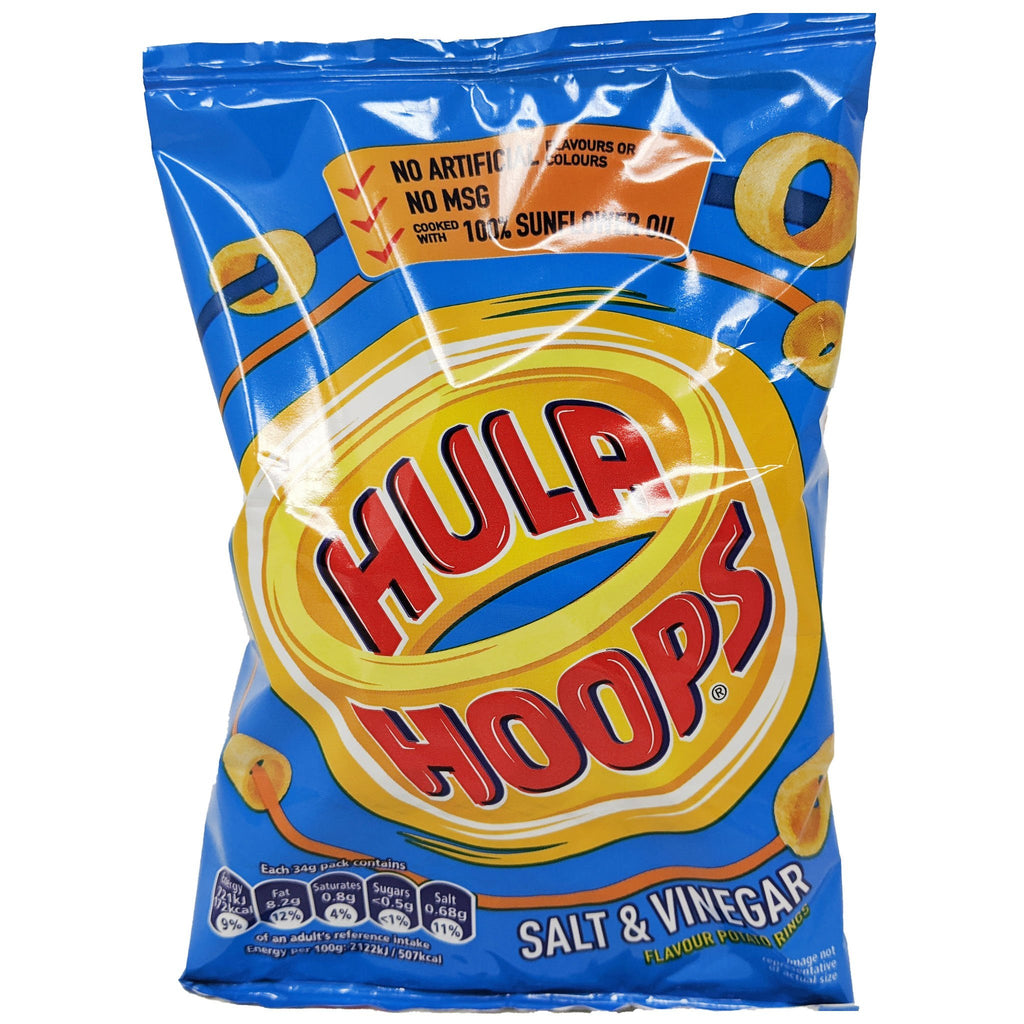 Hula Hoops Salt & Vinegar 34g - Blighty's British Store