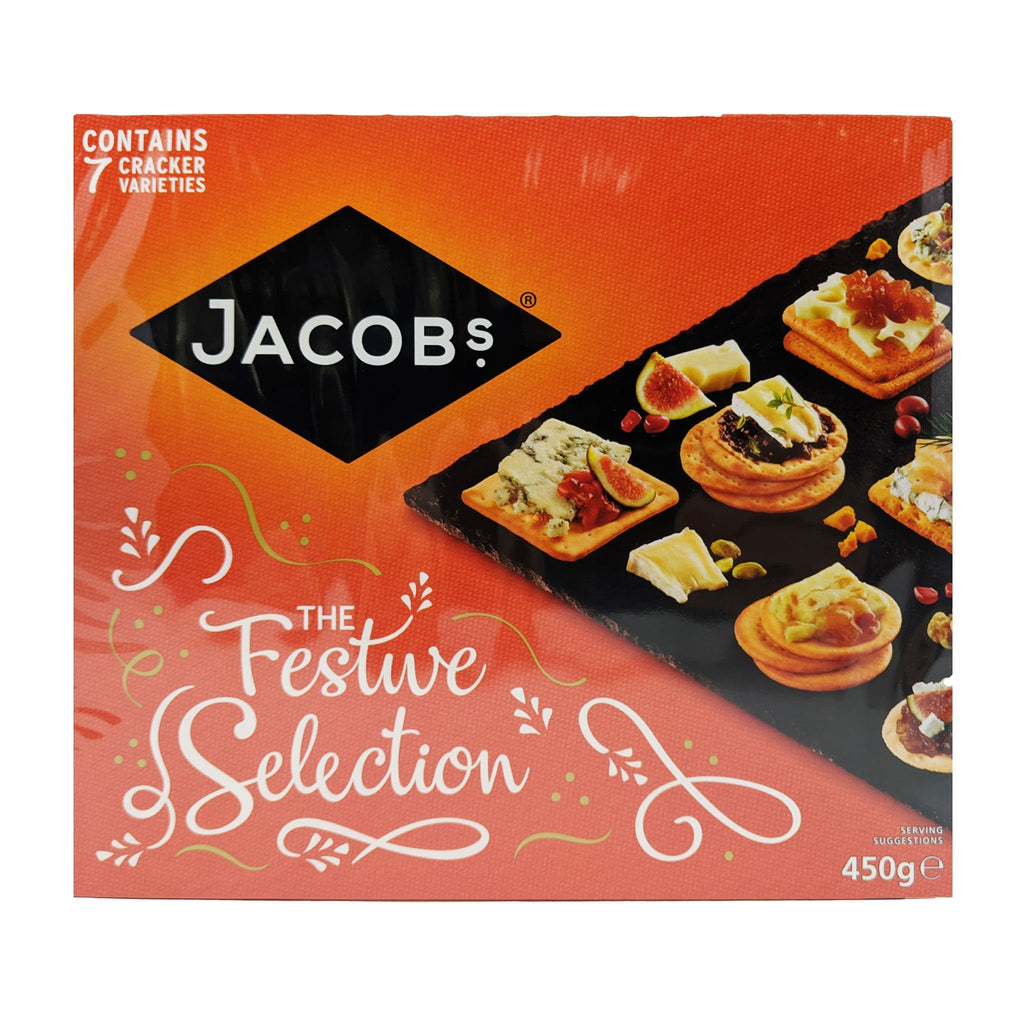 Jacob's Crackers The Festive Selection Box 450g - Blighty's British Store