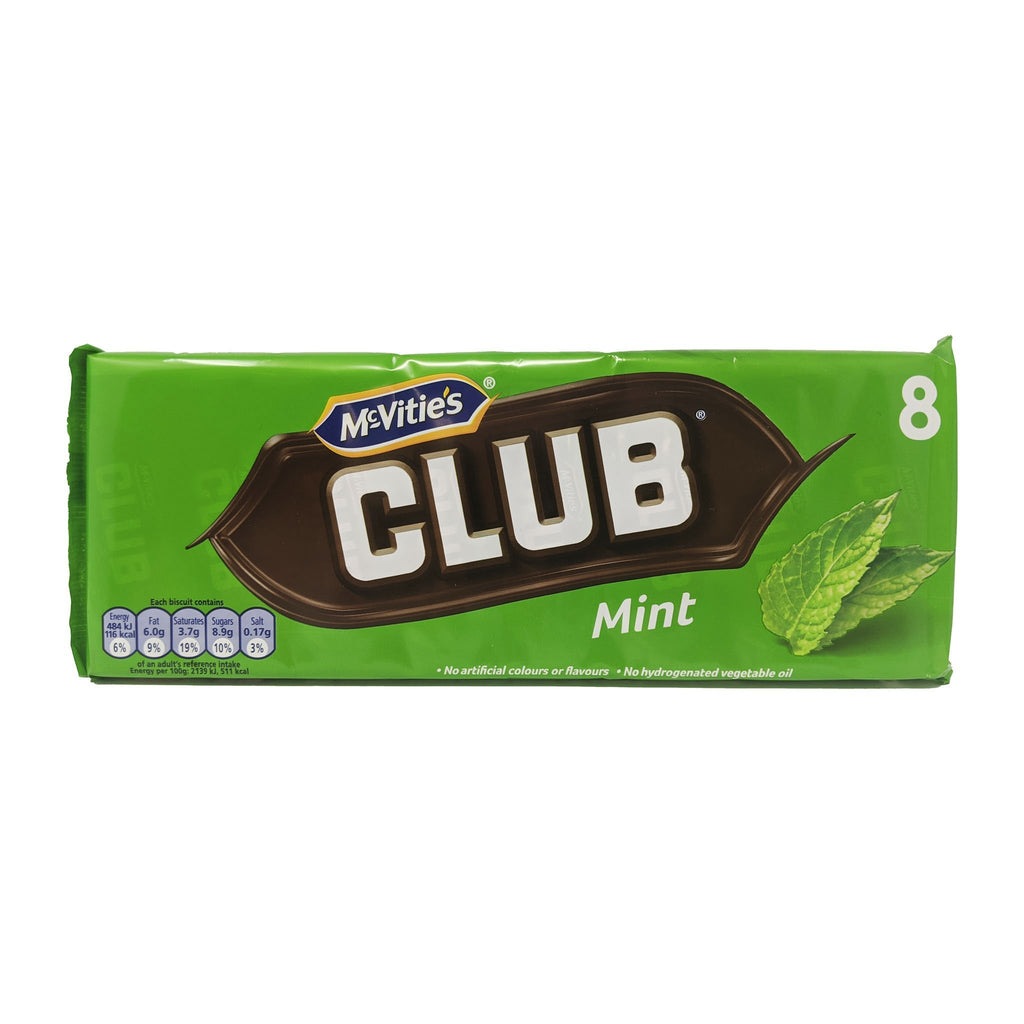 McVitie's Club Mint 8 Pack 176g - Blighty's British Store