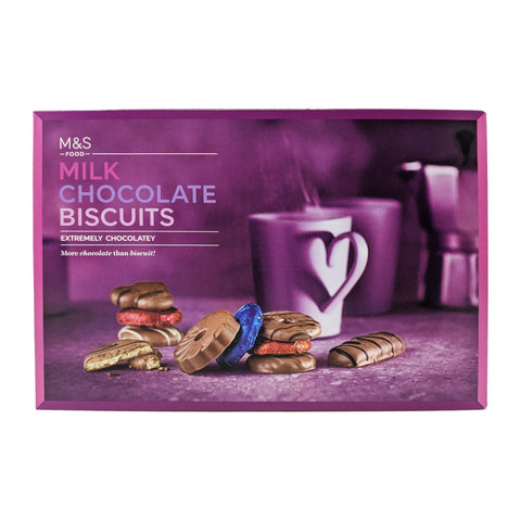 M&S Milk Chocolate Biscuits Selection 450g - Blighty's British Store