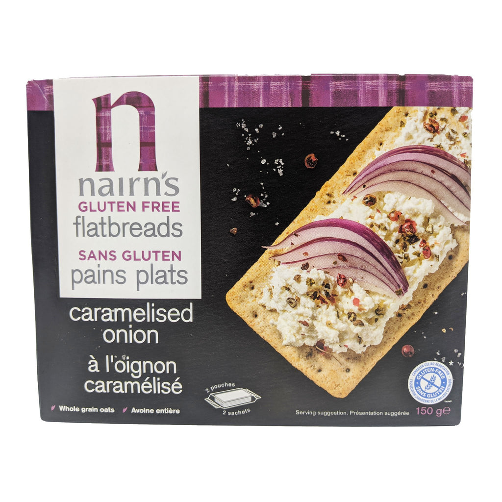 Nairn's Gluten Free Caramelised Onion Flatbreads 150g - Blighty's British Store