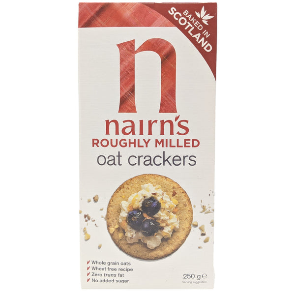 Nairn's Roughly Milled Oat Crackers 250g - Blighty's British Store