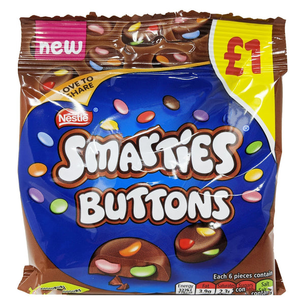 Nestle Smarties Buttons 78g - Blighty's British Store