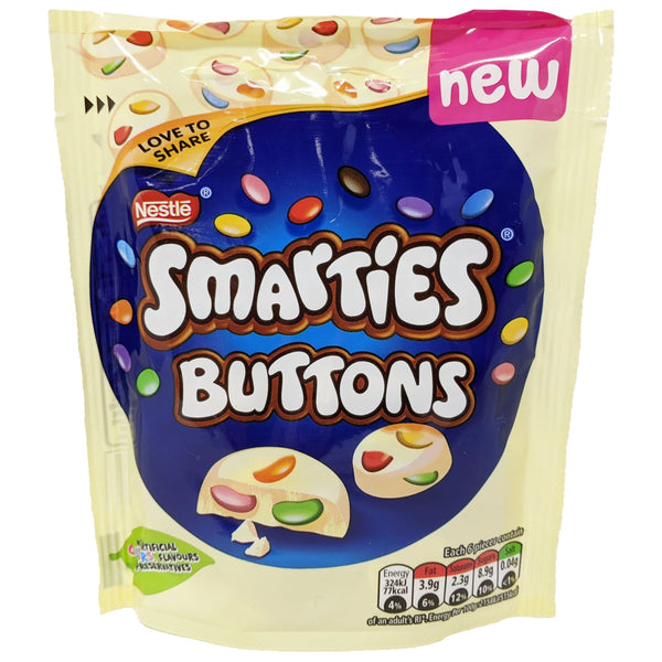 Nestle Smarties White Buttons 85g - Blighty's British Store