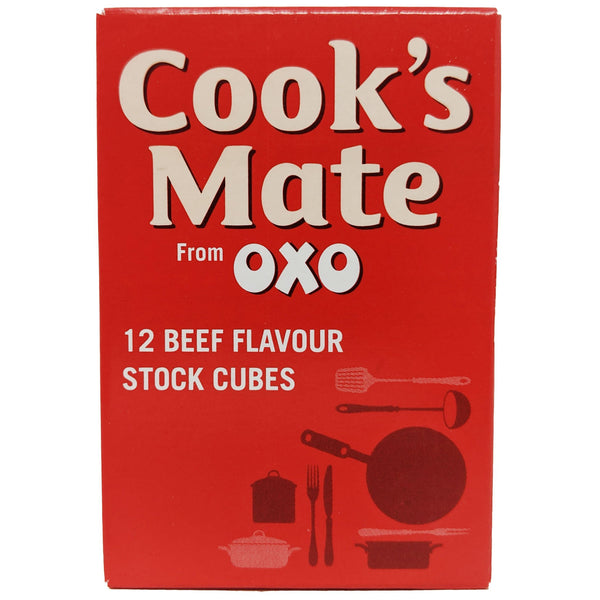 OXO Cook's Mate 12 Beef Flavour Stock Cubes 71g - Blighty's British Store
