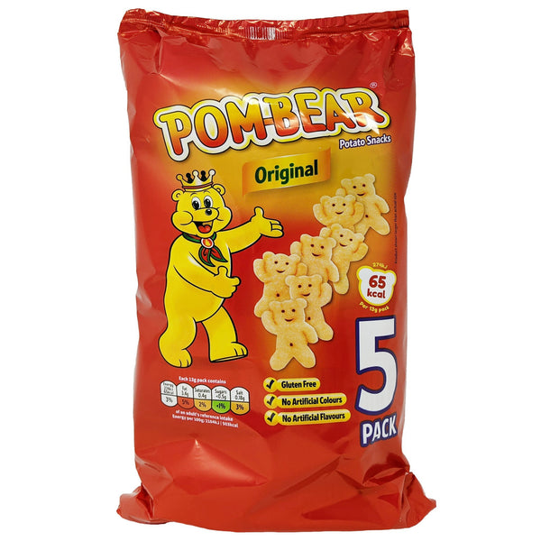 Pom-Bear Original 5 Pack (5 x 13g) - Blighty's British Store