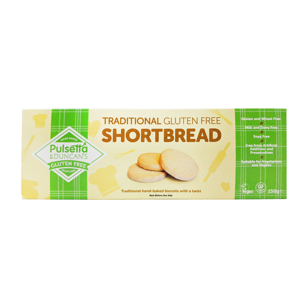 Pulsetta By Duncan's Traditional Gluten Free Shortbread 150g - Blighty's British Store