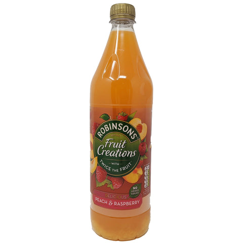 Robinson's Fruit Creations Peach & Raspberry 1L - Blighty's British Store