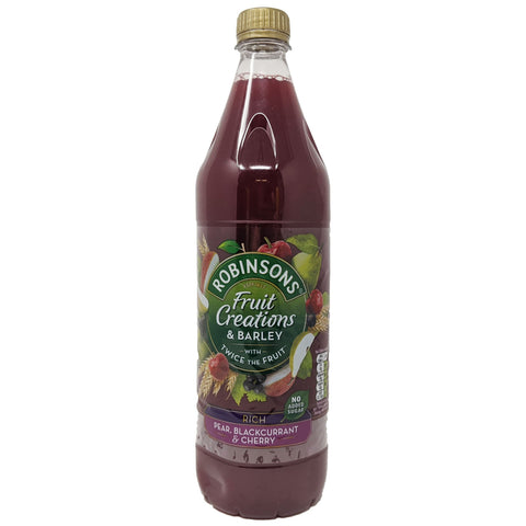 Robinson's Fruit Creations Pear, Blackcurrant & Cherry 1L - Blighty's British Store