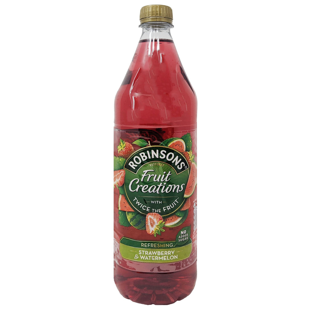 Robinson's Fruit Creations Strawberry & Watermelon 1L - Blighty's British Store
