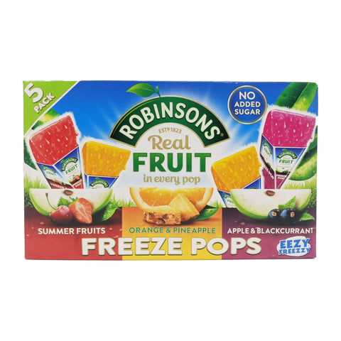 Robinson's Real Fruit Freeze Pops 5 Pack (5 x 62ml) - Blighty's British Store