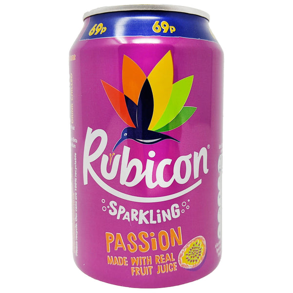 Rubicon Sparkling Passion Fruit 330ml - Blighty's British Store