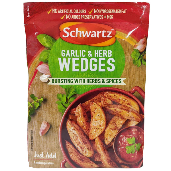Schwartz Garlic & Herb Wedges 38g - Blighty's British Store