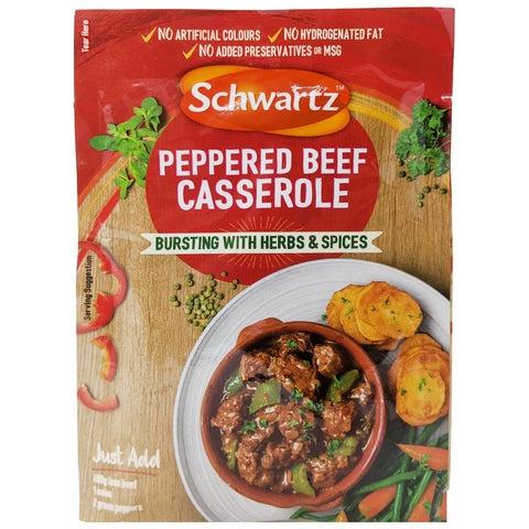 Schwartz Peppered Beef Casserole 40g - Blighty's British Store