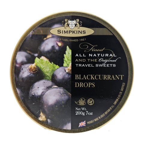 Simpkins Blackcurrant Drops 200g - Blighty's British Store